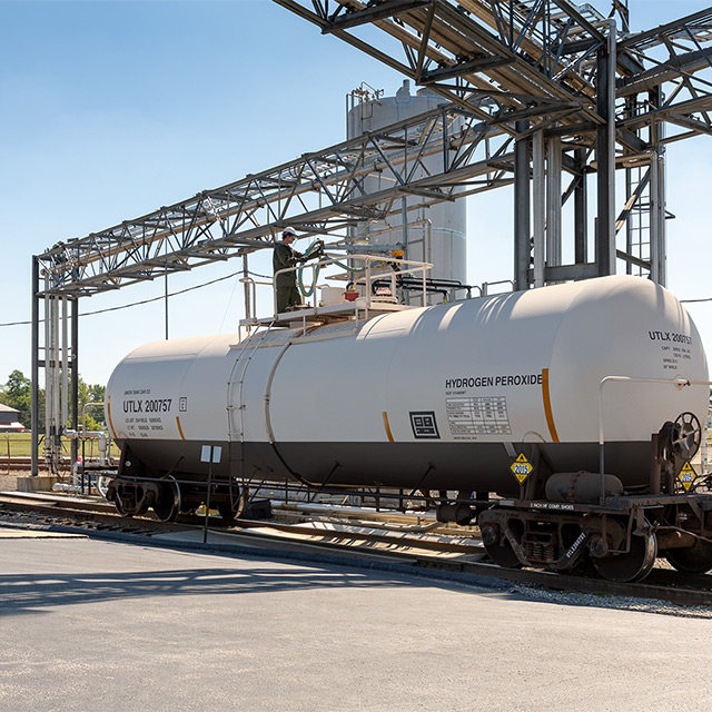 Tank railcar carrying ACH Tech product