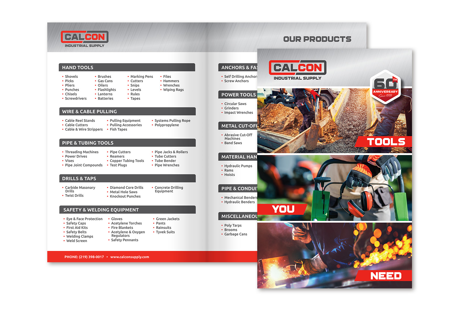 CalCon brochure layout graphic design