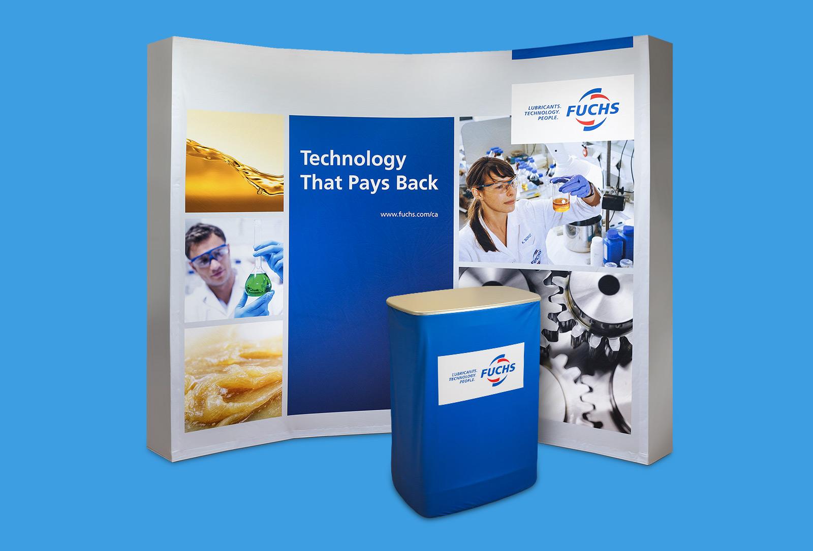 Fuchs catalog cover graphic design