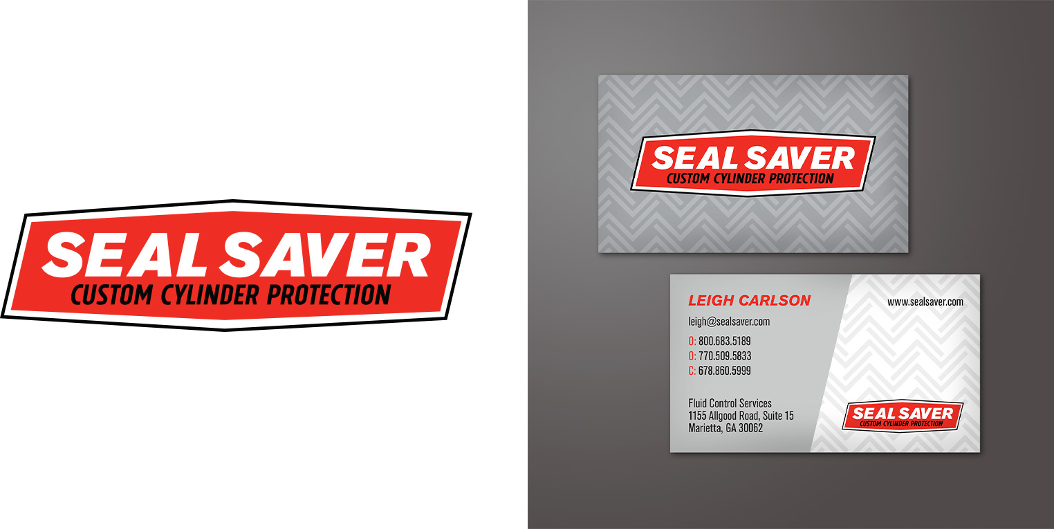Seal Saver business card graphic design