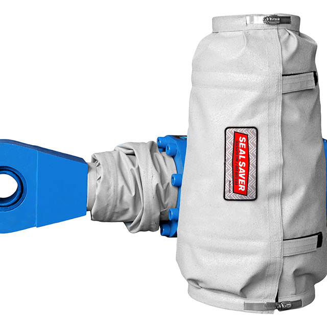 Extended and collapsed Seal Saver protective boot