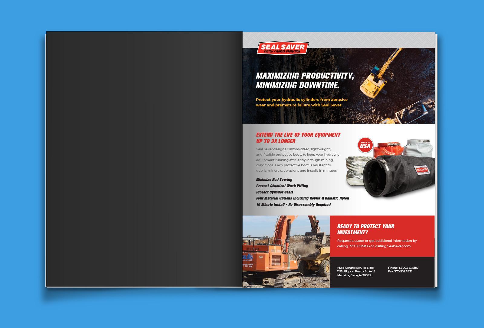 Seal Saver catalog layout graphic design