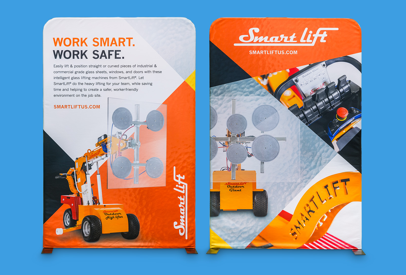 SmartLift® trade show popups graphic design