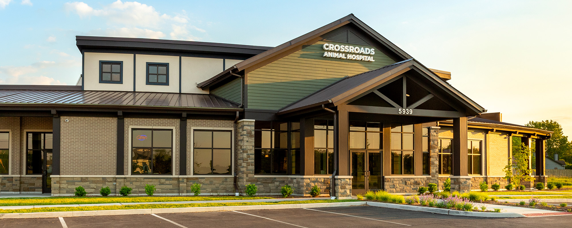 Crossroads Animal Hospital office building