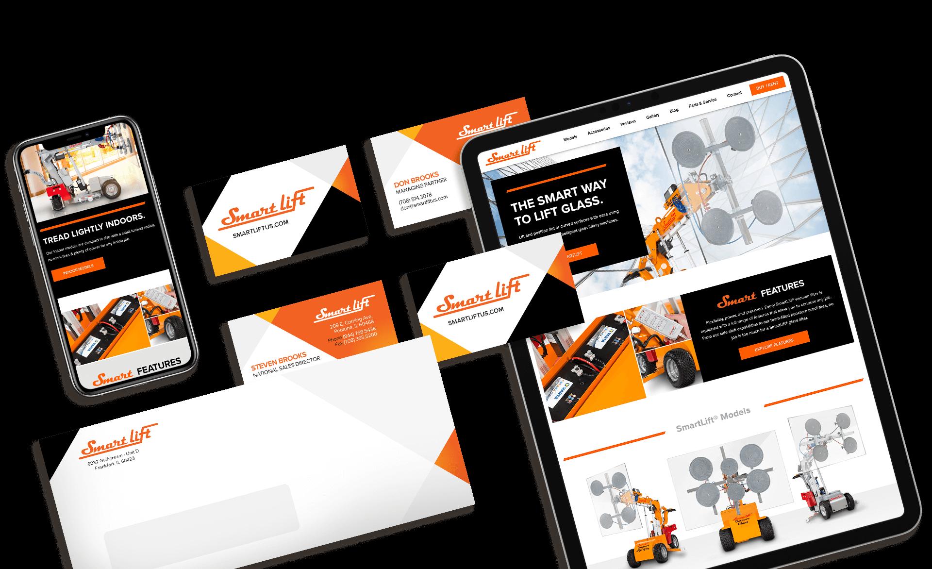 Screenshots of smartlift website