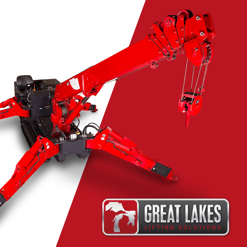 Great Lakes Lifting logo and Spydercrane