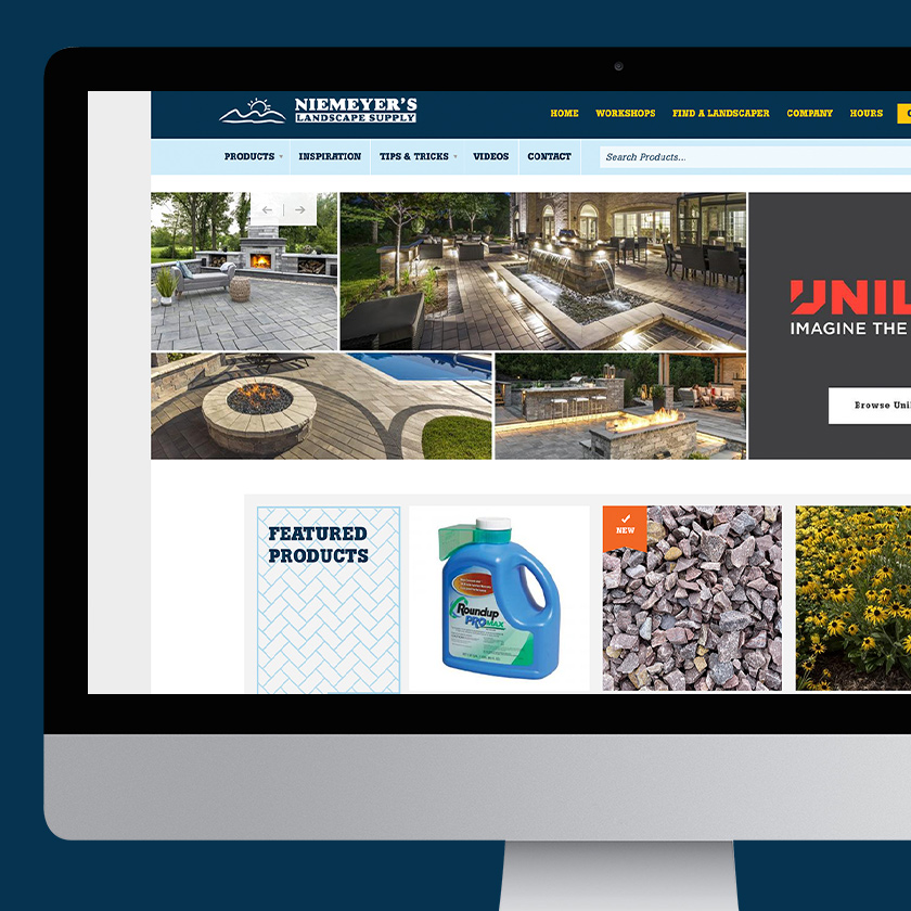 Niemeyer's Landscape Supply website landing page